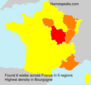 Surname wiebe in France