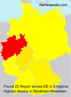 Surname Akyazi in Germany