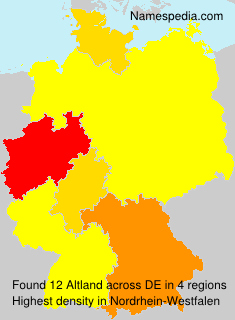 Surname Altland in Germany