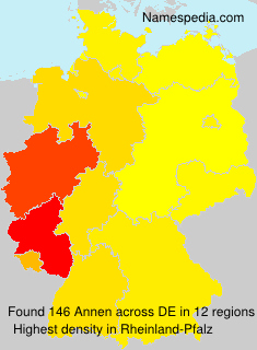 Surname Annen in Germany