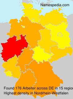 Surname Arbeiter in Germany