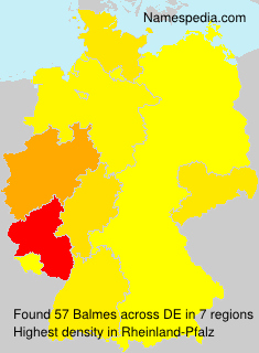 Surname Balmes in Germany