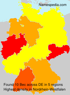 Surname Bec in Germany