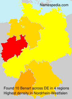 Surname Benart in Germany
