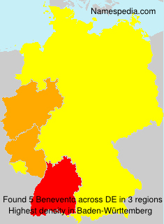 Surname Benevento in Germany