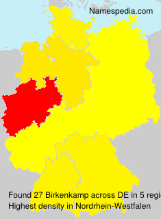 Surname Birkenkamp in Germany