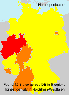 Surname Blaise in Germany