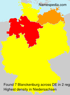 Surname Blanckenburg in Germany