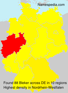 Surname Bleker in Germany