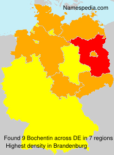 Surname Bochentin in Germany