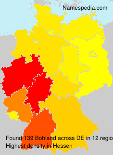 Surname Bohland in Germany