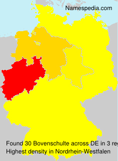 Surname Bovenschulte in Germany