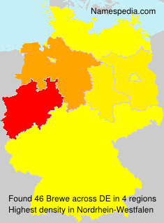 Surname Brewe in Germany