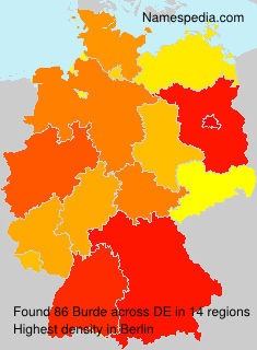 Surname Burde in Germany