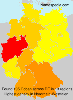 Surname Coban in Germany