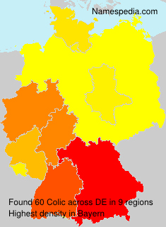 Surname Colic in Germany