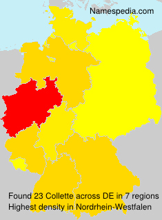 Surname Collette in Germany