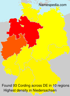 Surname Cording in Germany