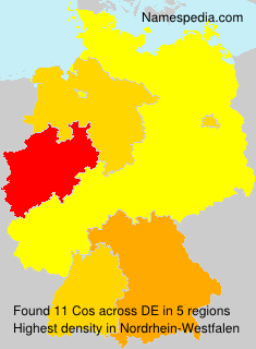 Surname Cos in Germany