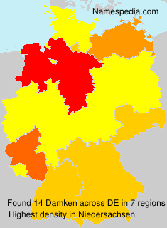 Surname Damken in Germany
