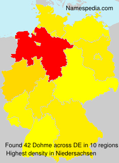 Surname Dohme in Germany