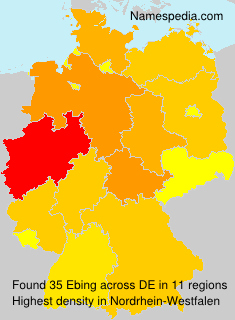 Surname Ebing in Germany