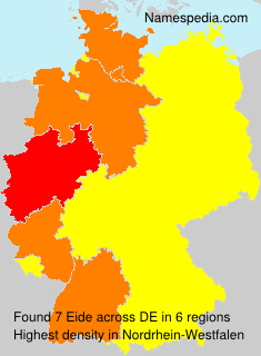 Surname Eide in Germany