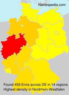 Surname Enns in Germany