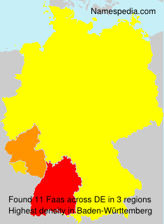 Surname Faas in Germany