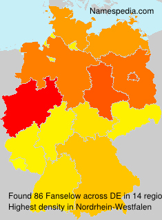 Surname Fanselow in Germany