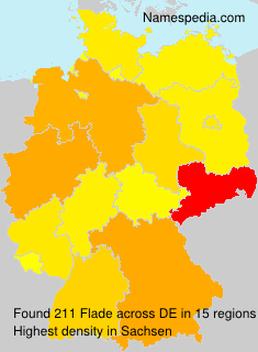 Surname Flade in Germany