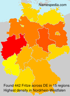 Surname Fritze in Germany