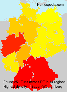 Surname Fuss in Germany