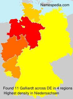 Surname Galliardt in Germany