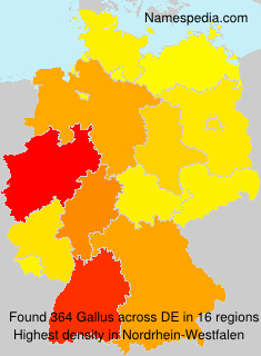 Surname Gallus in Germany