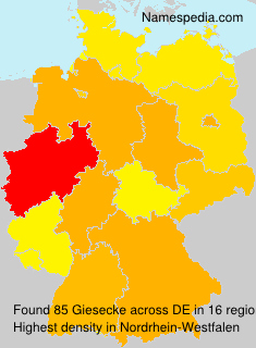 Surname Giesecke in Germany