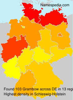 Surname Grambow in Germany