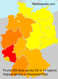 Surname Gras in Germany