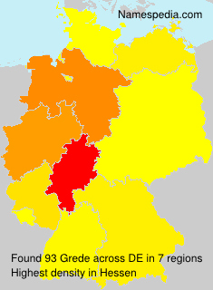 Surname Grede in Germany