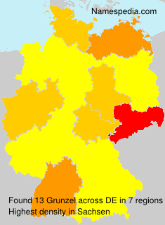 Surname Grunzel in Germany