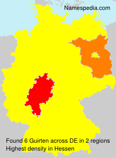 Surname Guirten in Germany