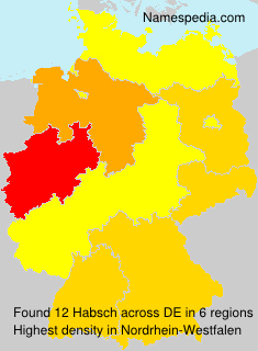 Surname Habsch in Germany