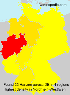 Surname Hanzen in Germany