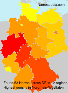 Surname Harras in Germany