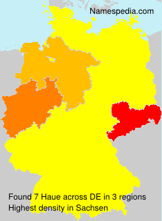 Surname Haue in Germany