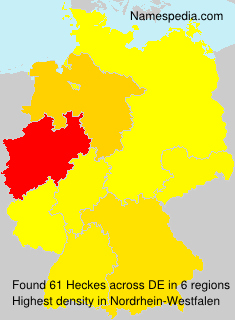 Surname Heckes in Germany