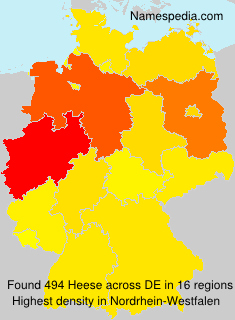 Surname Heese in Germany