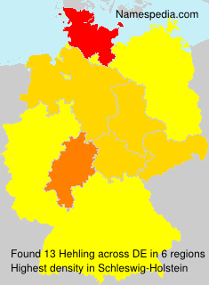 Surname Hehling in Germany