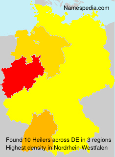 Surname Heilers in Germany