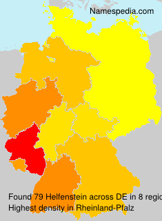 Surname Helfenstein in Germany